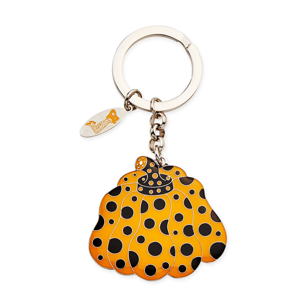Yayoi Kusama Pumpkin Key Ring in color Yellow