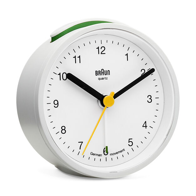 Braun Analog Alarm Clock in color