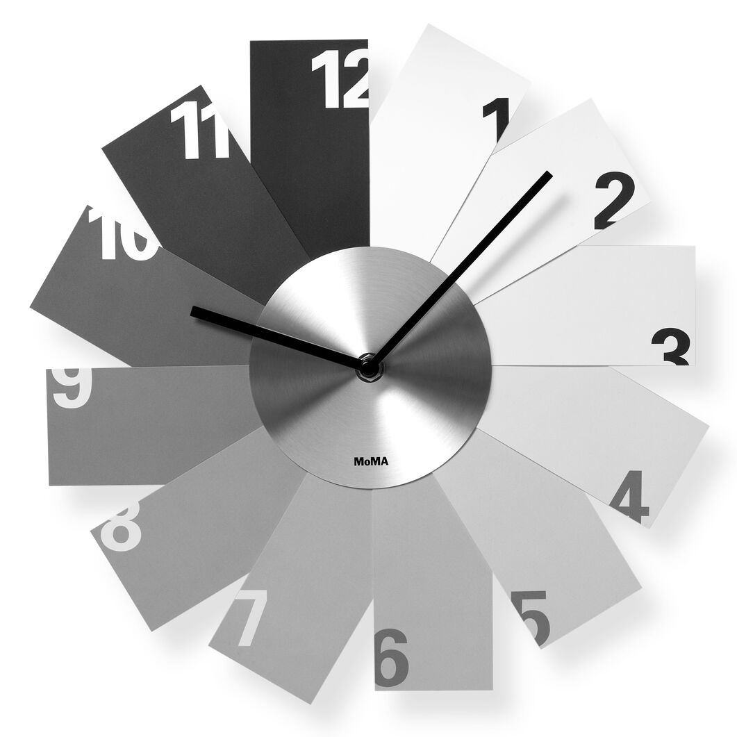 Monochrome Wall Clock in color