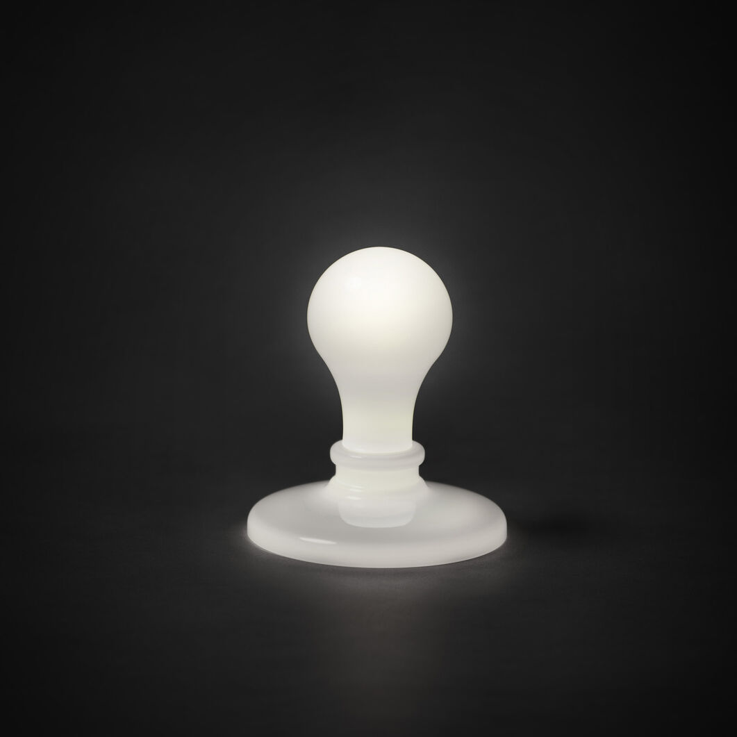 James Wines Lightbulb Table Lamp in color White