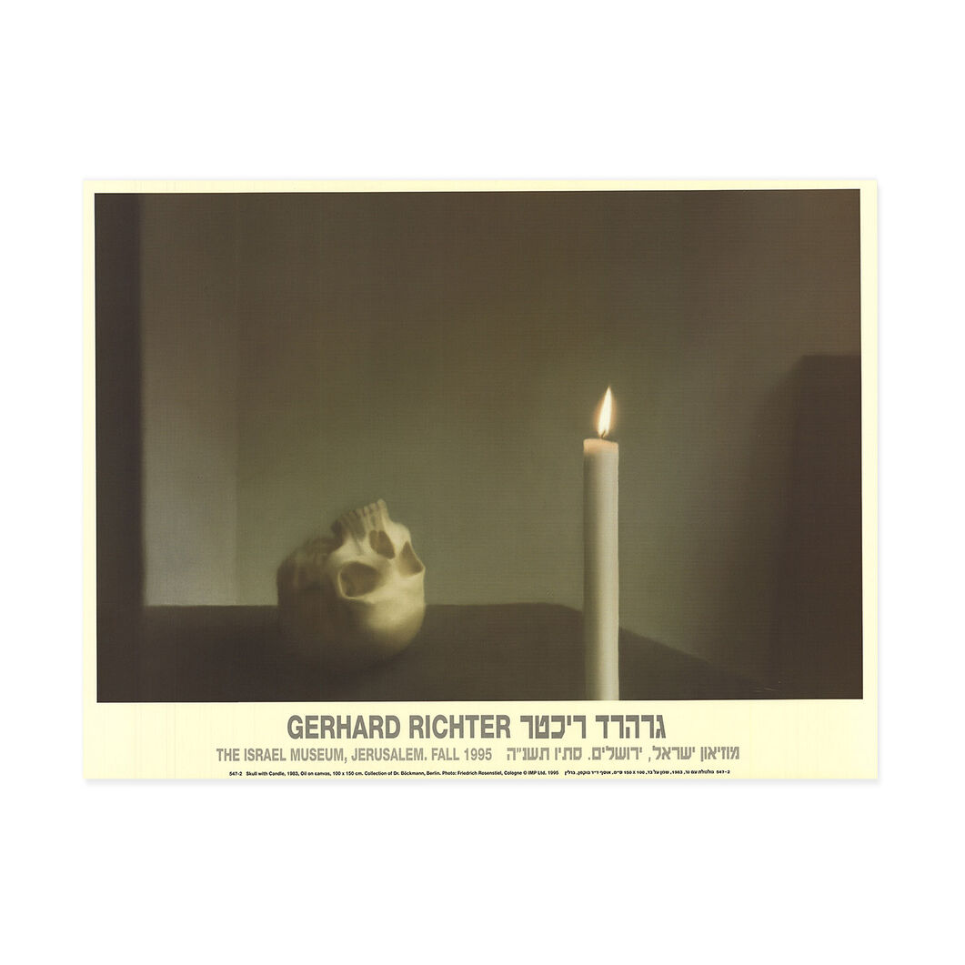 Gerhard Richter: Skull with Candle Poster in color