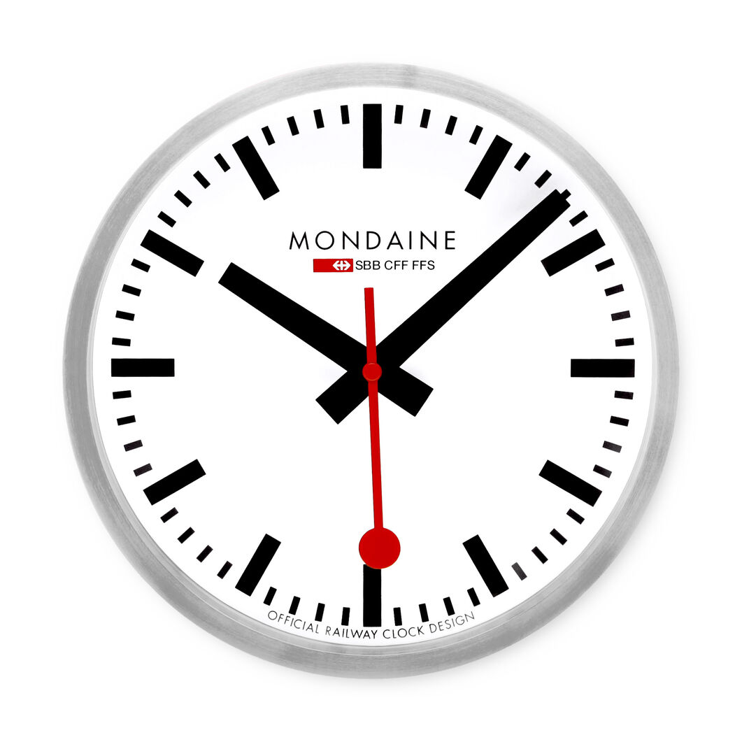 Small swiss railway wall clock moma design store - Swiss railway wall clock ...