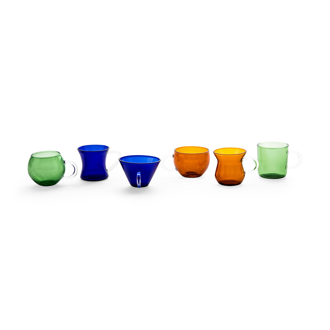Glass Espresso Cups in color