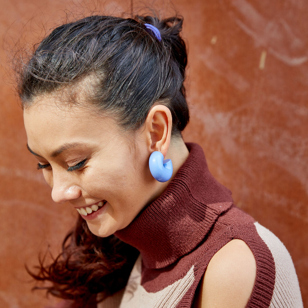 Uncommon Matters Urushi Wood Beam Earrings in color