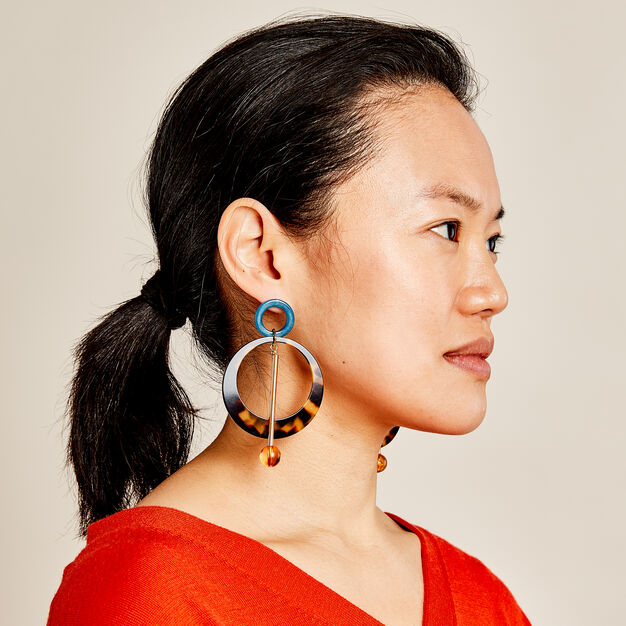 Rachel Comey Joey Earrings in color Tortoise