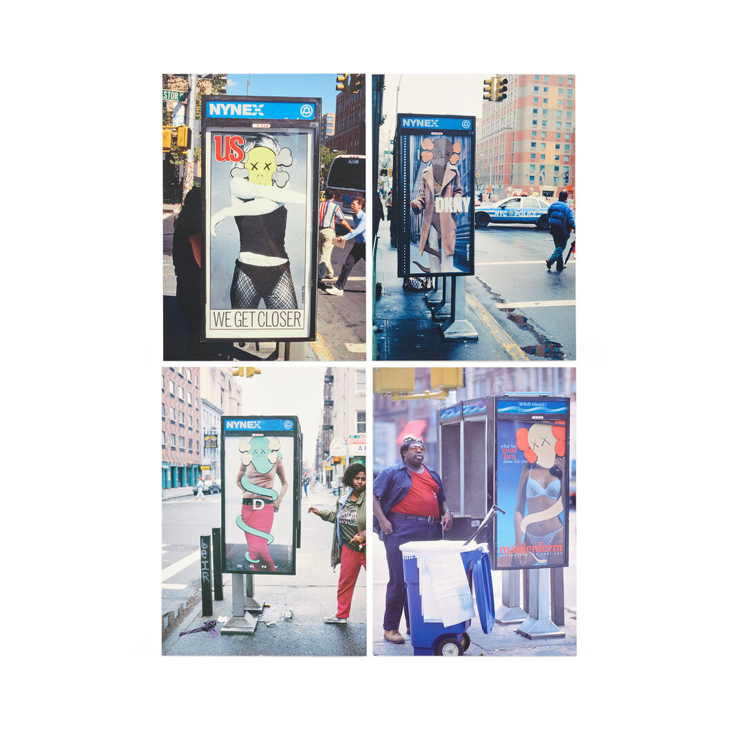 KAWS Phone Shelters Postcards - Set of 4 in color