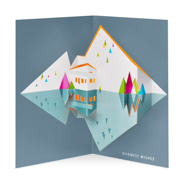 modern chalet holiday cards box of - Modern Holiday Cards