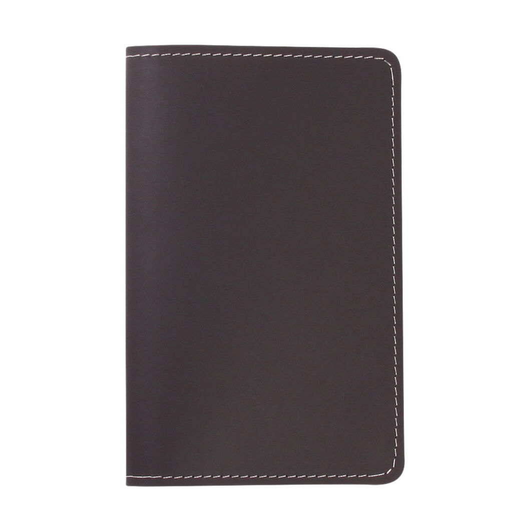 Primary Recycled Leather Passport Case in color Gray/ Brown