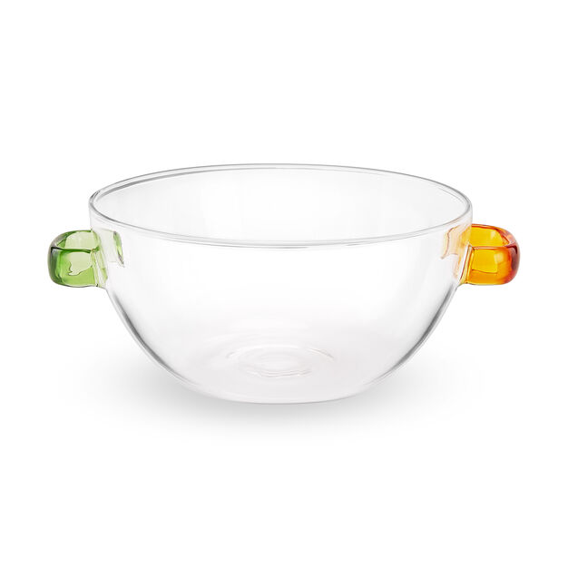 Multicolor Glass Bowl in color Green/ Amber