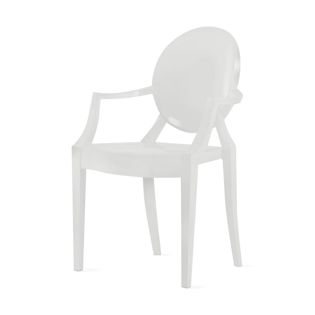 Louis Ghost Armchair Set of Two - White in color