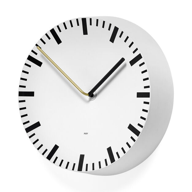 HAY Analog Clock in color White