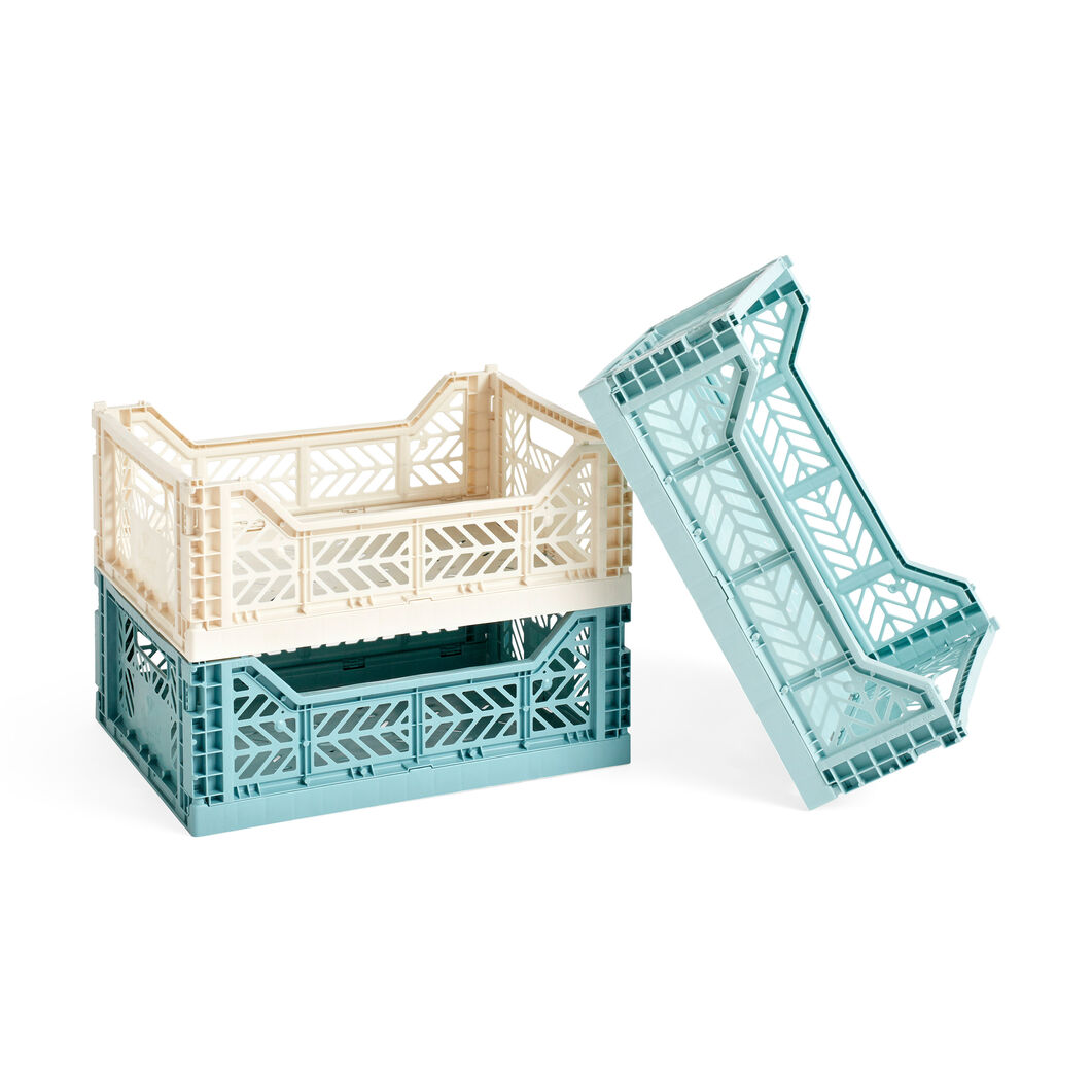HAY Collapsible Storage Bins in color Teal