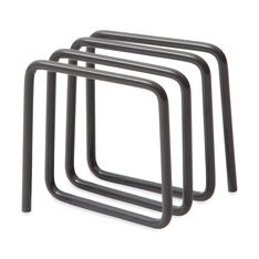 Wire Desktop Letter Rack in color Gray