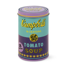 Andy Warhol Soup Can Crayons in color Purple
