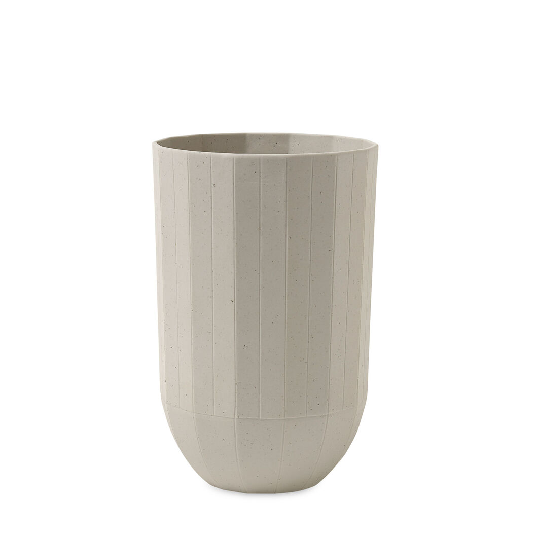 HAY Paper Porcelain Vase in color Beige