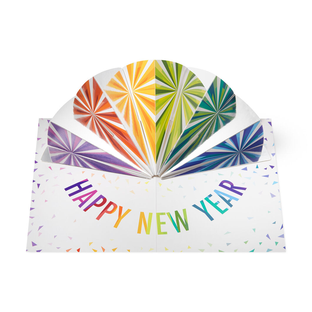 New Year Fireworks Holiday Cards (Box of 8) in color