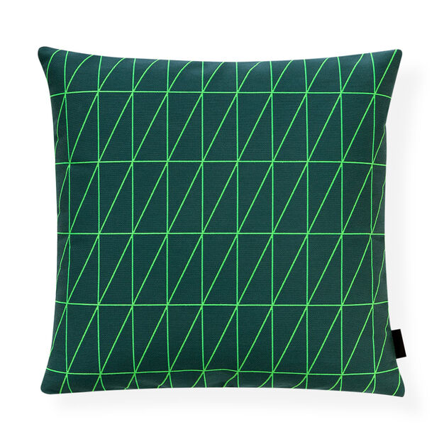 Bright Angle Evergreen Pillow in color