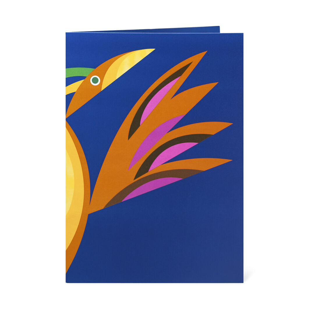 Pop-Up Radiant Bird Note Cards in color