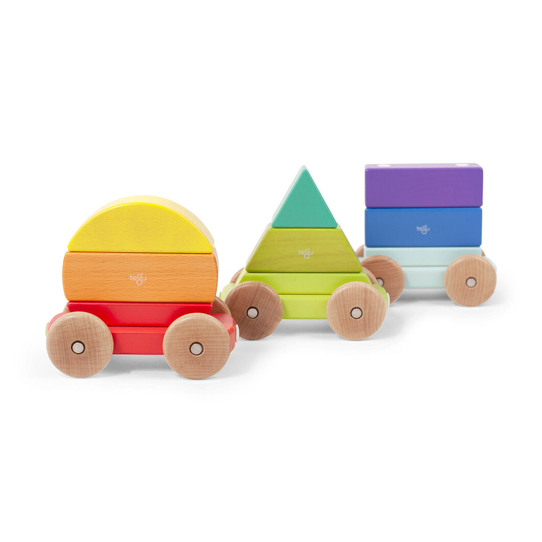 Rainbow Magnetic Shape Train in color