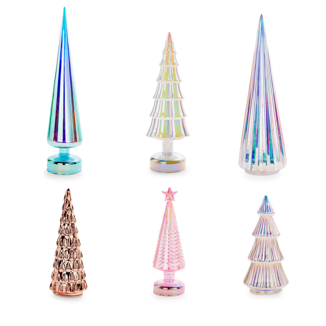 LED Lighted Trees in color Multi