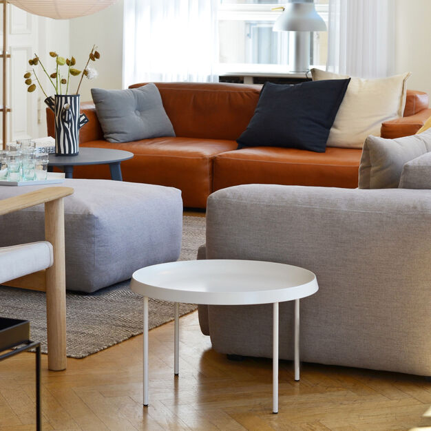 HAY Tulou Round Coffee Table in color White
