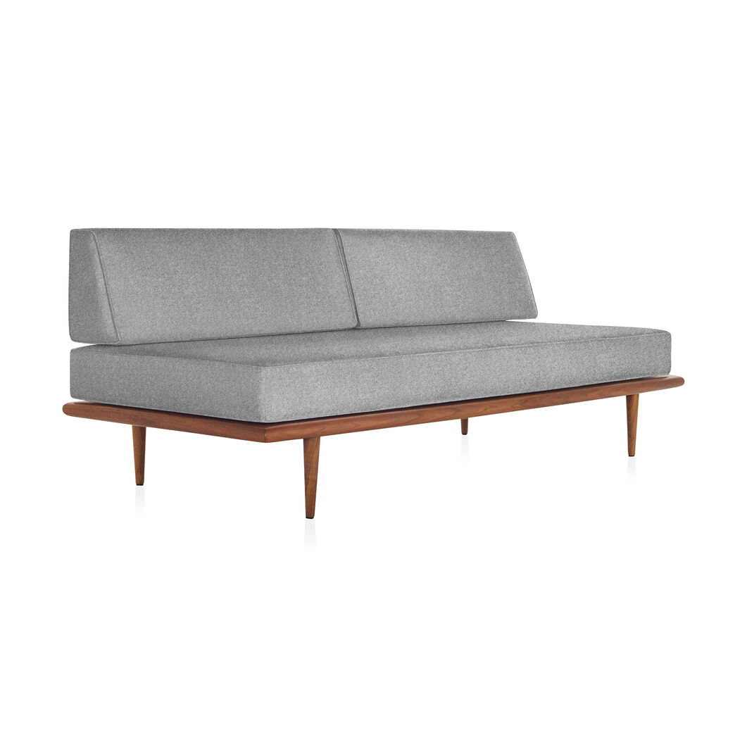 George Nelson™ Daybed with Back Bolsters & Tapered Legs in color