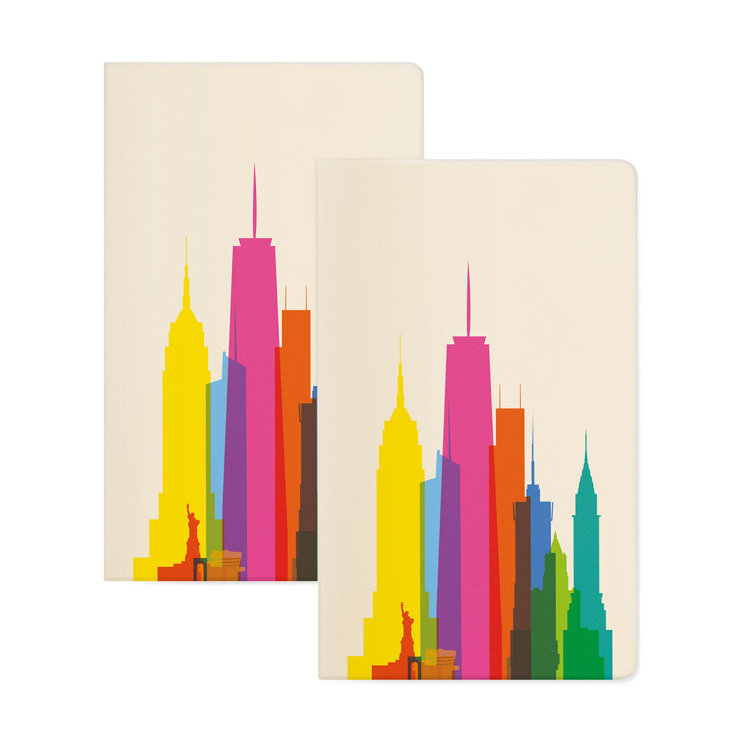 NYC Rainbow City Shapes Notebook Set in color