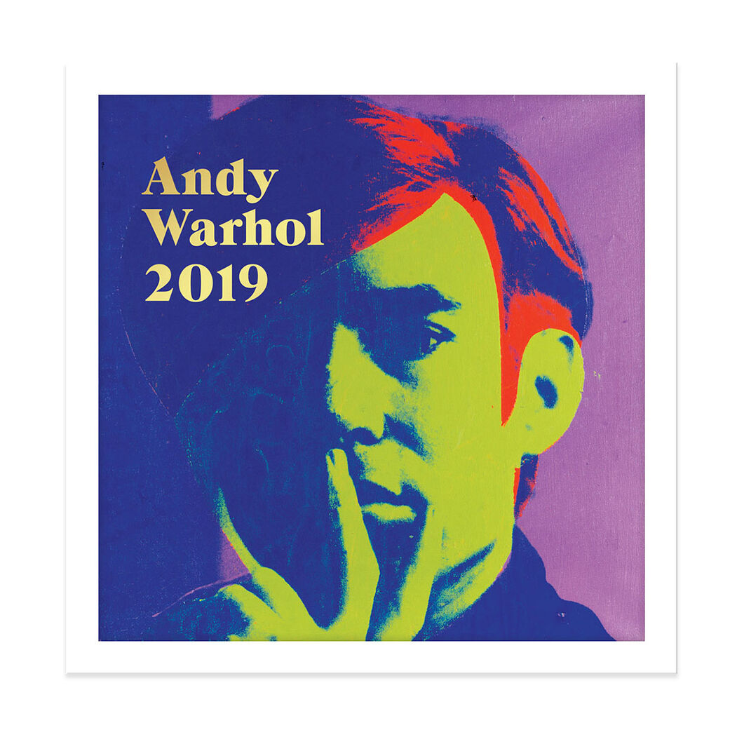 2019 Warhol Wall Calendar in color
