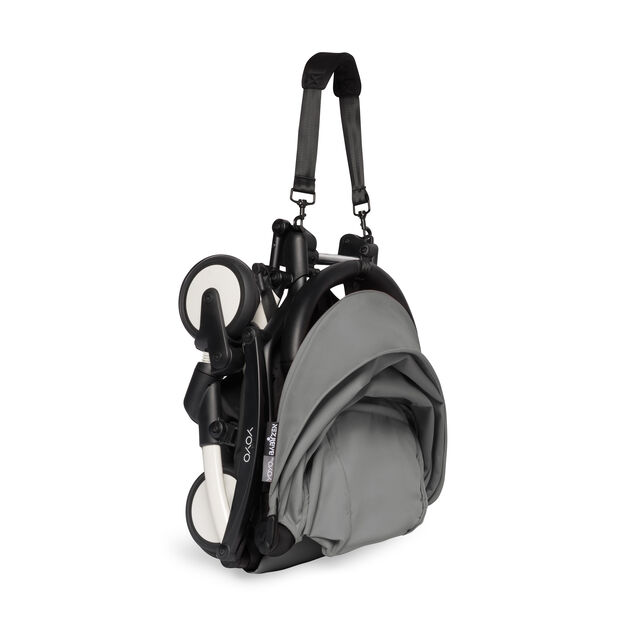 """<div>Babyzen™ <span style=""""font-weight: 400;"""">YOYO<sup><span style=""""font-weight: 400;"""">2</span></sup></span> 6+ Complete Stroller</div> in color Gray/ White"""