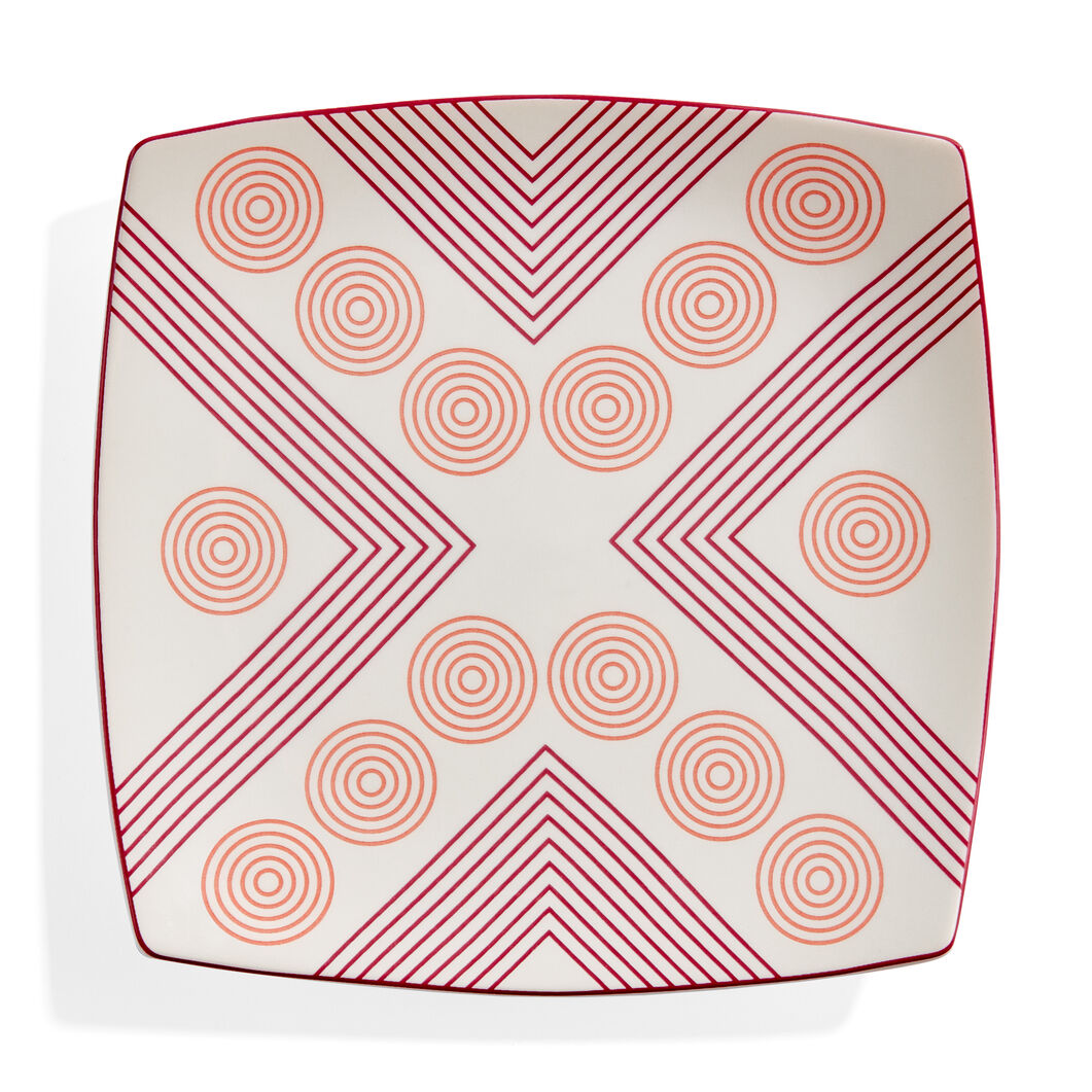 Marguerita Mergentime Arrows and Circles Ceramic Plate in color