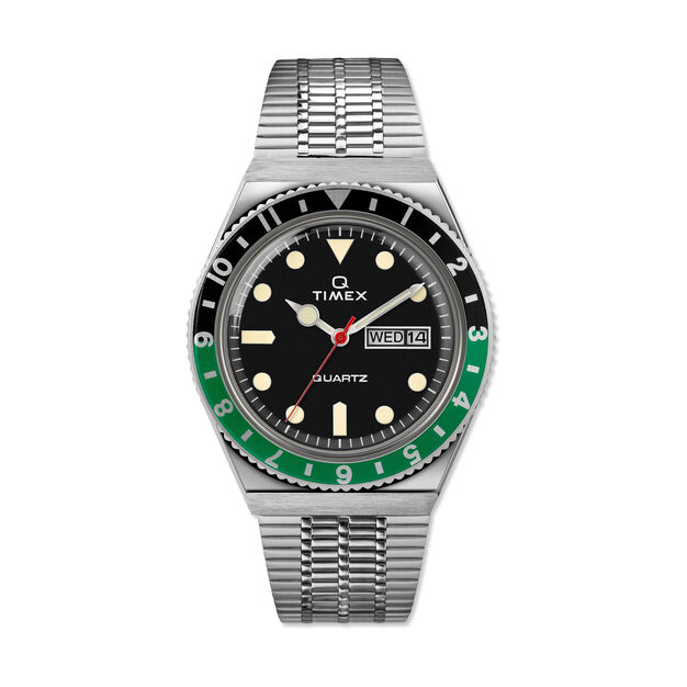 Q Timex Watch 1979 Reissue in color Green/ Black