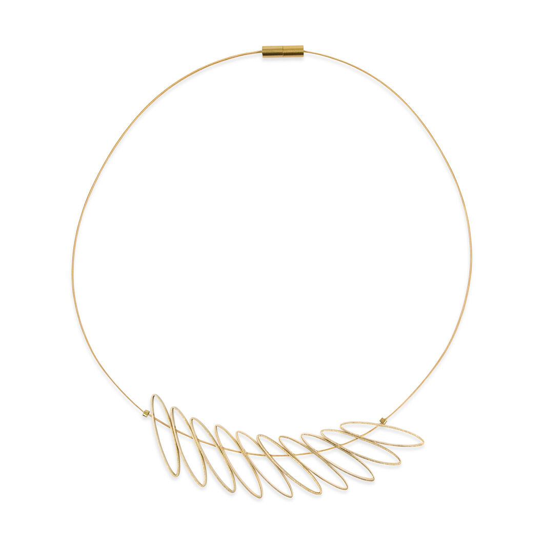 Askew Leaves Necklace in color