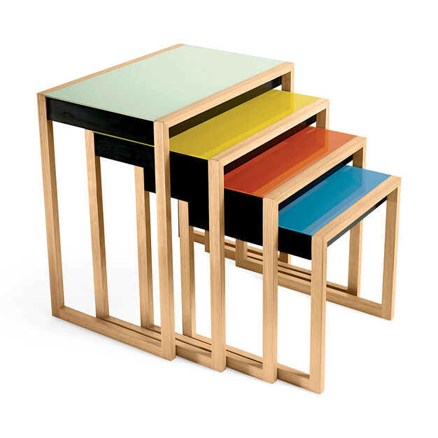 Nesting tables designed by Josef Albers (1927)