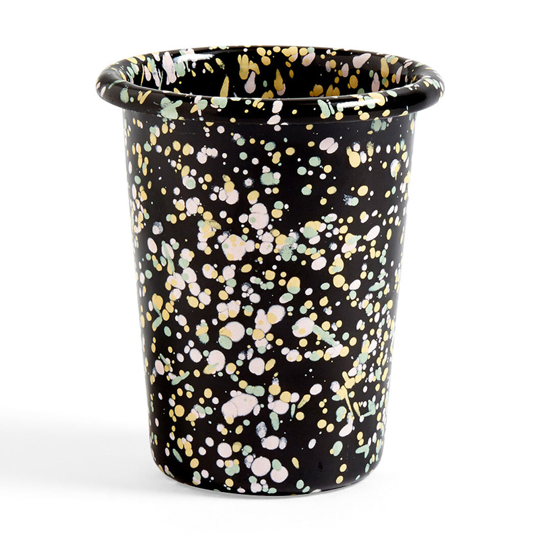 HAY Enamel Cup in color Black