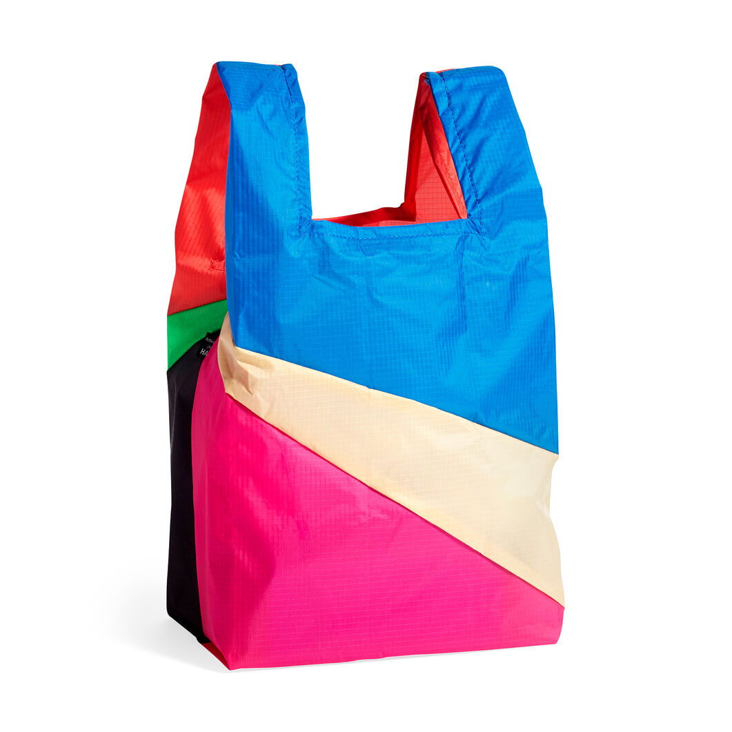HAY Six-Color Foldable Bag - Medium in color Blue/ Pink