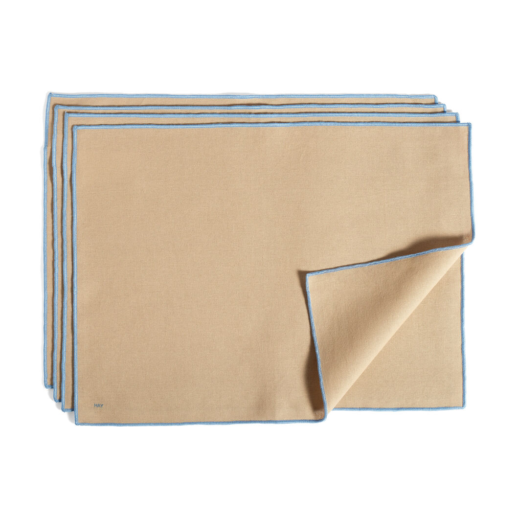 HAY Cotton Placemats - Set of 4 in color Beige