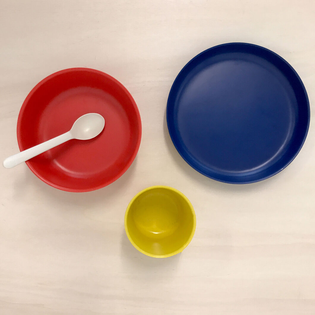 Kids Bamboo Meal Set in color
