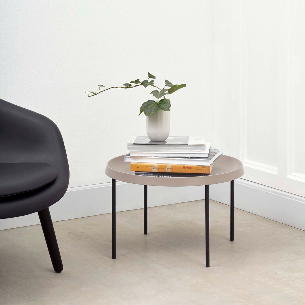 HAY Tulou Round Coffee Table in color Mocca
