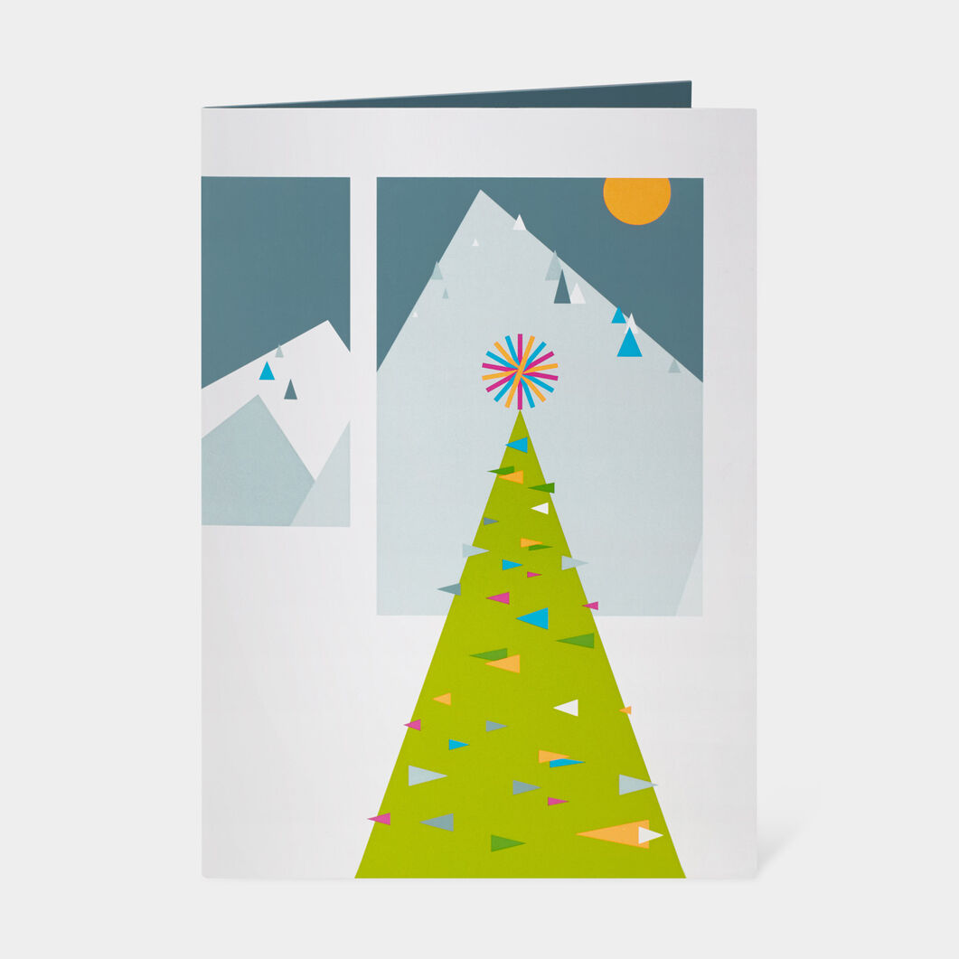Modern Chalet Holiday Cards in color