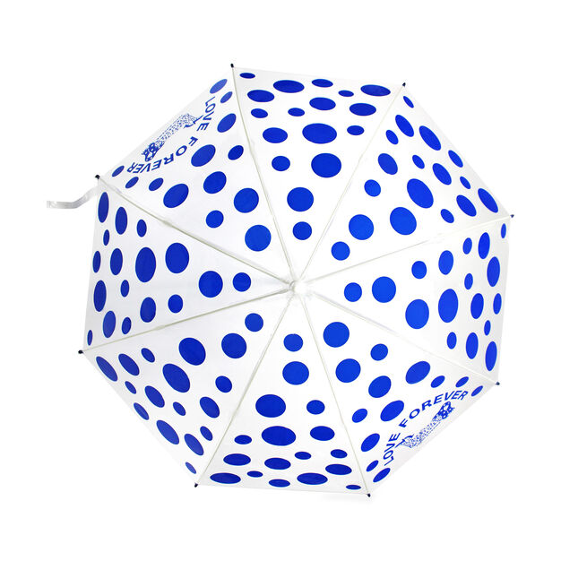 Yayoi Kusama Love Forever Dots Umbrella in color Blue