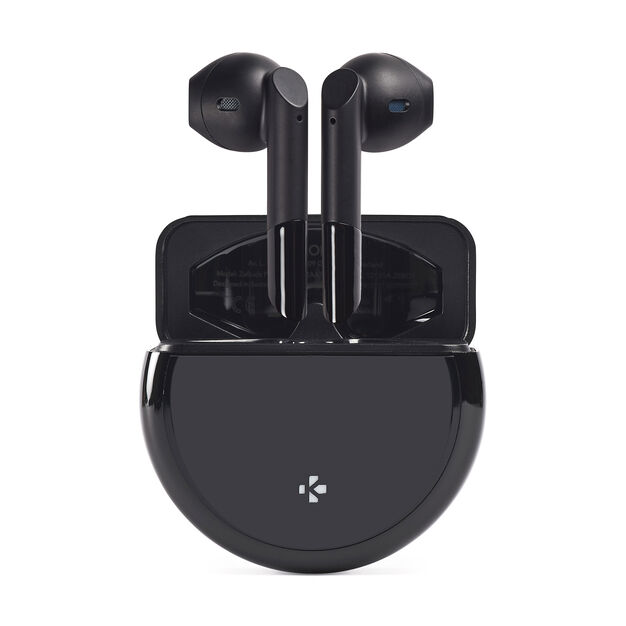 Mykronoz ZeBuds Pro Earbuds with Wireless Charging Case in color Black