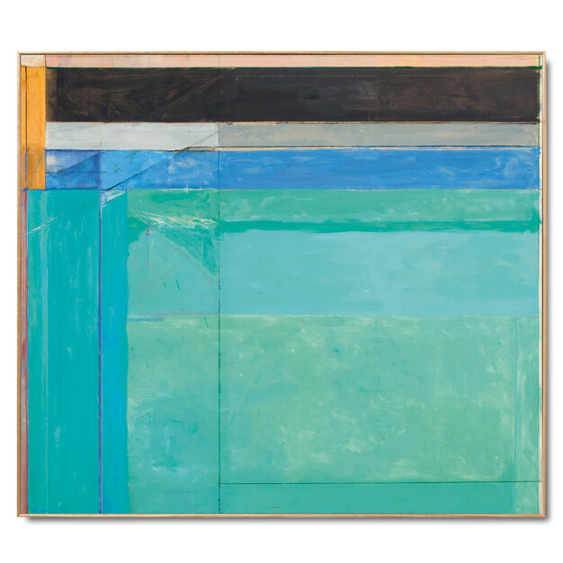 Diebenkorn: Ocean Park No. 68 Framed Print in color