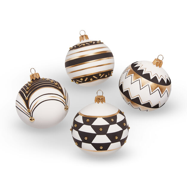 Gold and Pearl Holiday Ornament Set in color