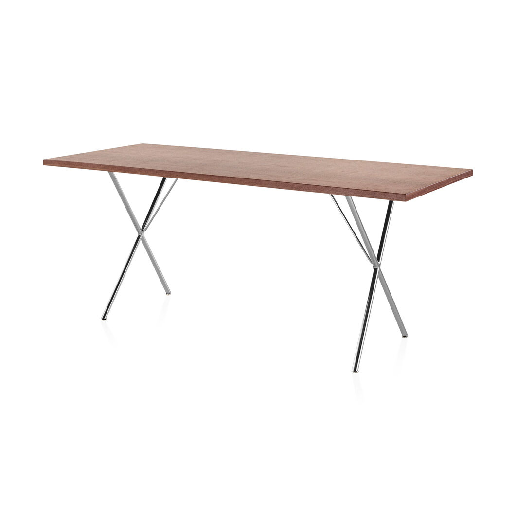 George Nelson™ X-Leg Rectangular Top Table in color