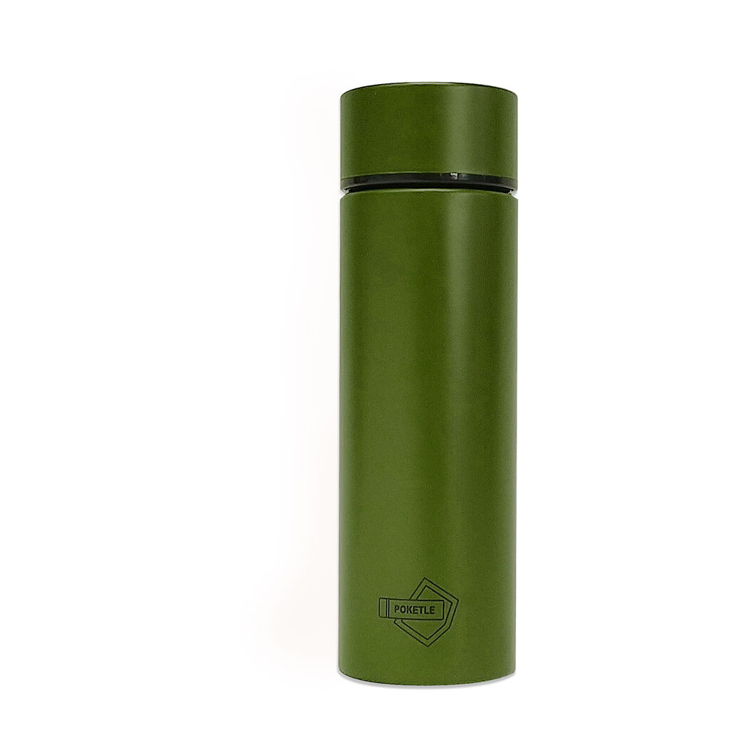 Poketle Pocket-Sized Insulated Tumbler in color Khaki Green