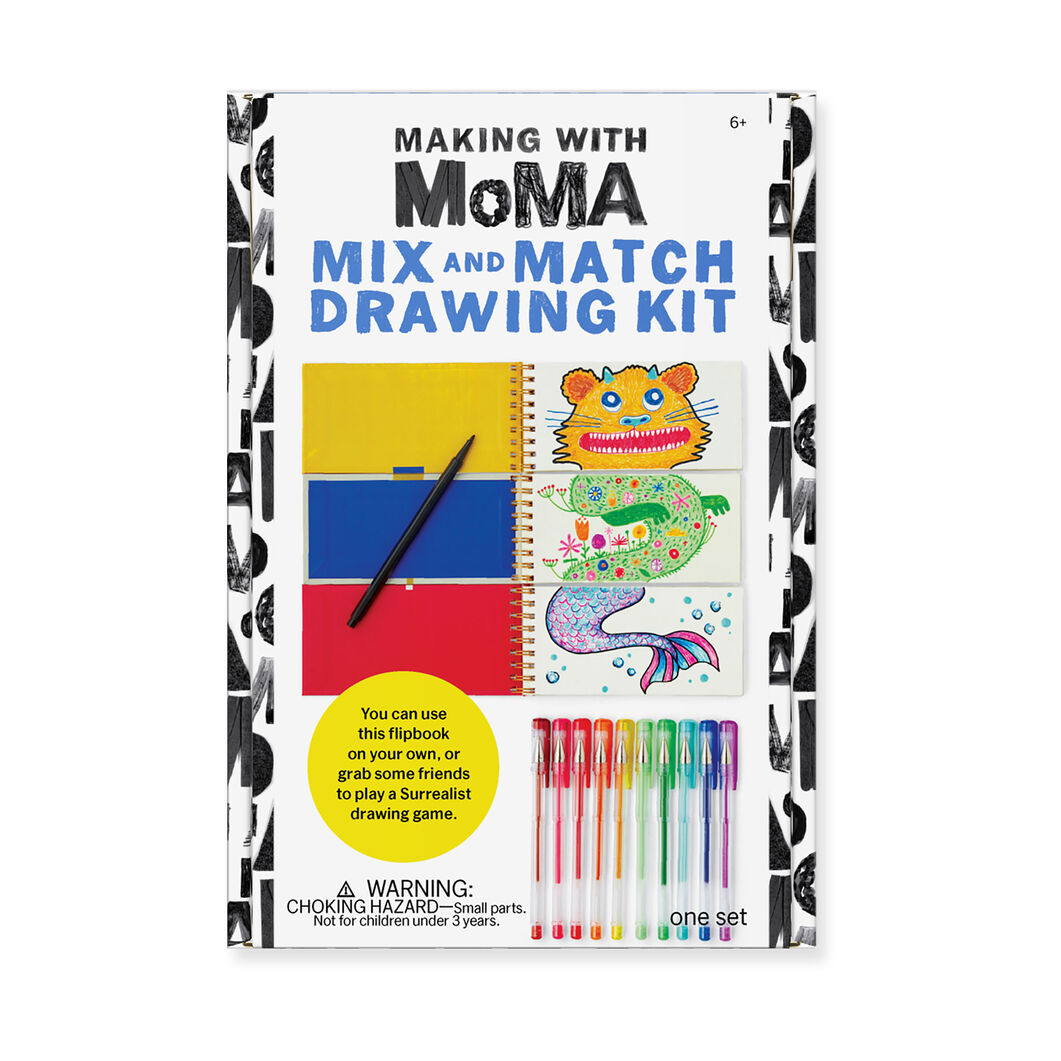 Making with MoMA: Mix and Match Drawing Book in color