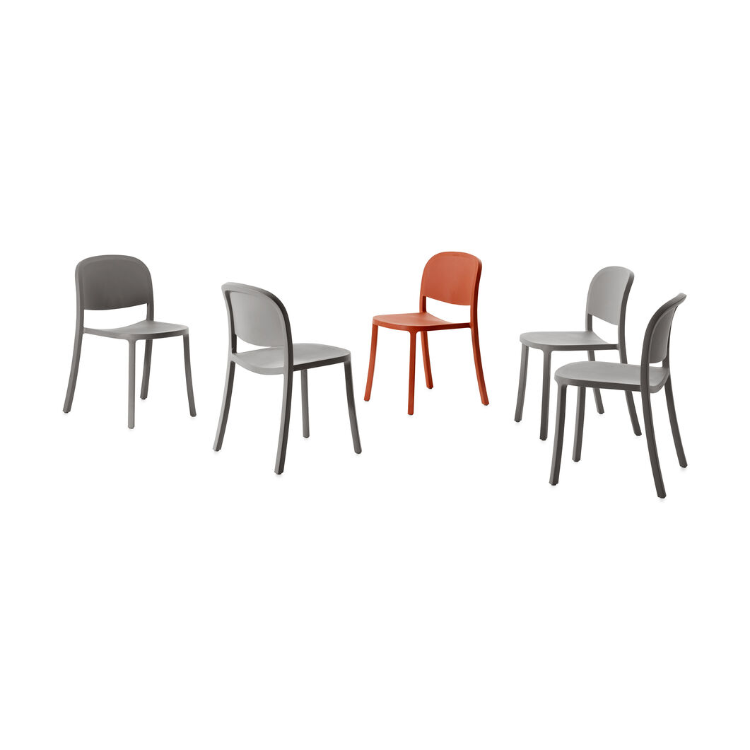 Emeco 1 Inch Reclaimed Stacking Chair in color Light Grey