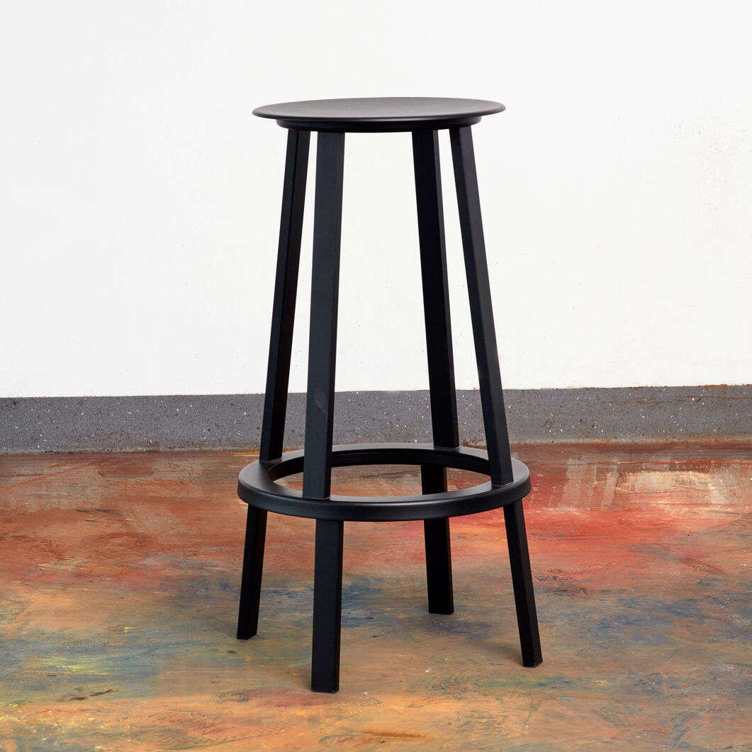 HAY Revolver Counter Stool in color Black