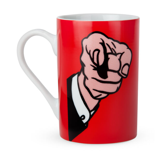 Roy Lichtenstein: Finger Pointing Mug in color