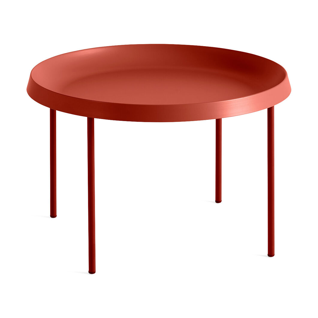 HAY Tulou Round Coffee Table in color Orange